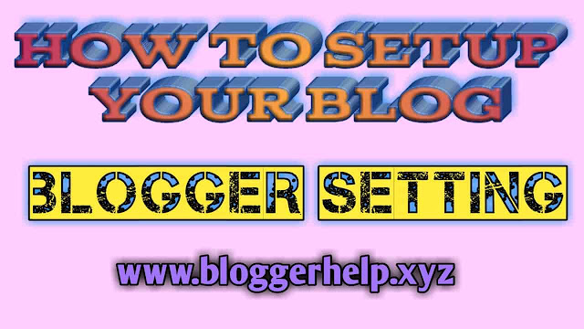 How to setting my blog