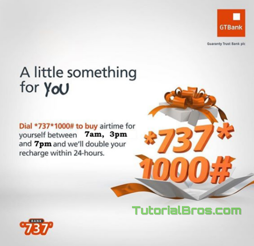 How To Get Double of Your Recharge when you Purchase Airtime with GTBank