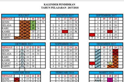 Download Kalender Pendidikan Tahun Pelajaran 2017/2018