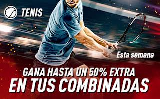 sportium promo Tenis: Extra en Combinadas hasta 19 enero 2020