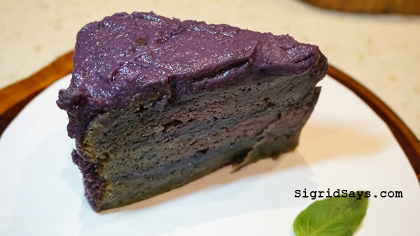 Farm to Table Iloilo restaurant - ube cake