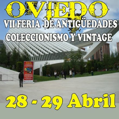 Cartel Feria de antigüedades Oviedo 2018