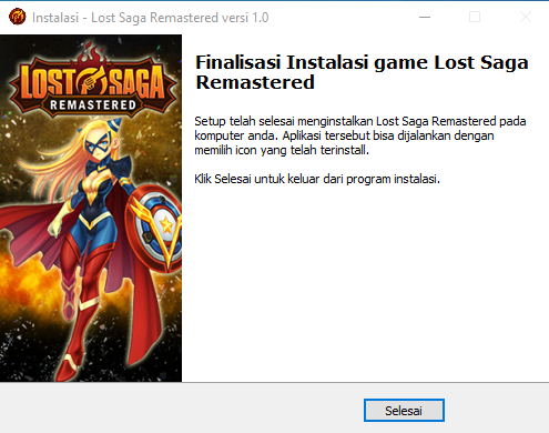 Install Lost Saga Remastered selesai