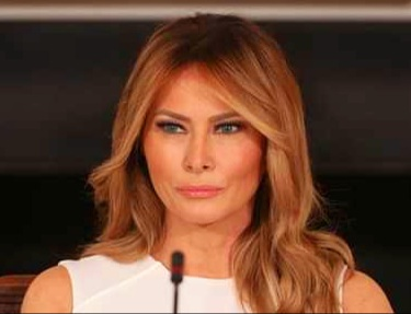 Melania was then busy with a photoshoot at the White House