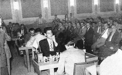 Sala de juego del Campeonato de España de Ajedrez de 1956