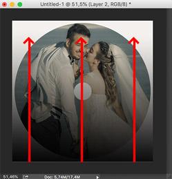 cara membuat label dvd di photoshop