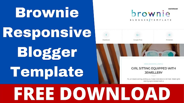 Brownie v1.0 The Responsive Personal Blogger Template