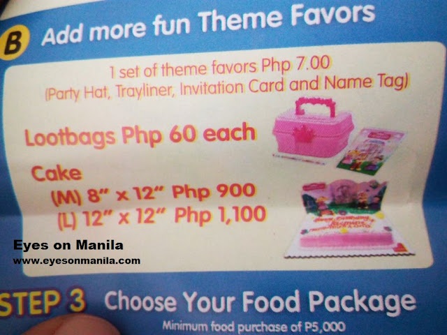 Jollibee Kiddie Party Lootbags
