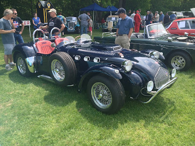 Navy Blue Allard J2 Race car