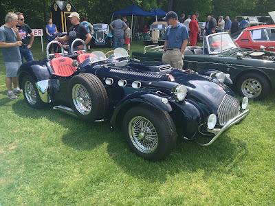 Navy Blue Allard J2 Race car