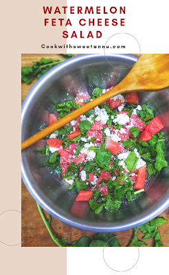 Homemade Watermelon and Feta Cheese Salad Recipe
