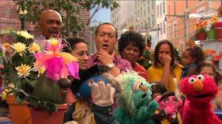Stinky the Stinkweed, Elmo, Rosita, Alan, Gordon, Leela, Sesame Street Episode 4403 The Flower Show season 44