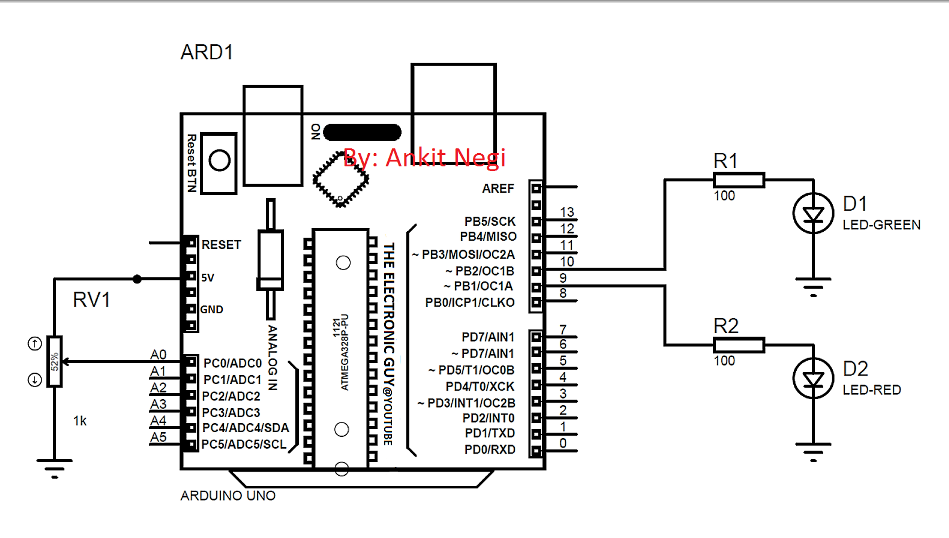 how to read potentiometer circuit diagram
