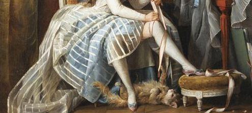 meias e jarreteiras do século xviii