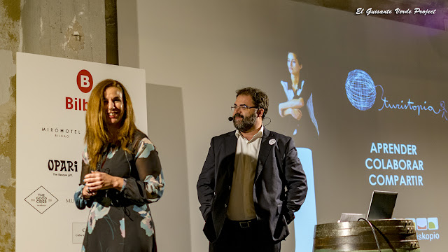 Natalia Zapatero y Eduardo Serrano en Turistopia 2018 - Bilbao por El Guisante Verde Project