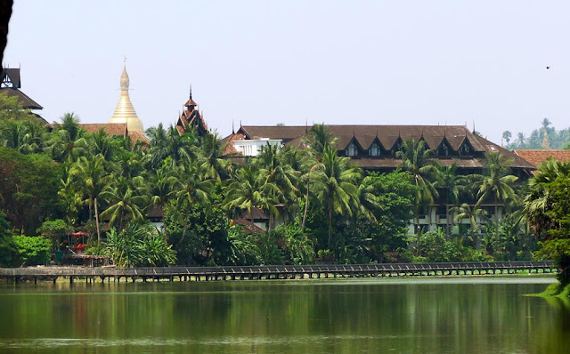 Kandawgyi Lake and Hotel is a great spot in Yangon