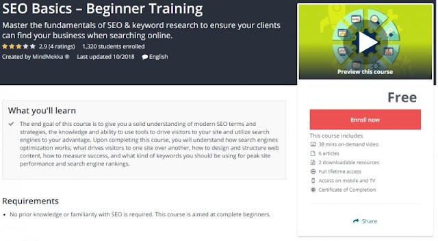 [100% Free] SEO Basics – Beginner Training