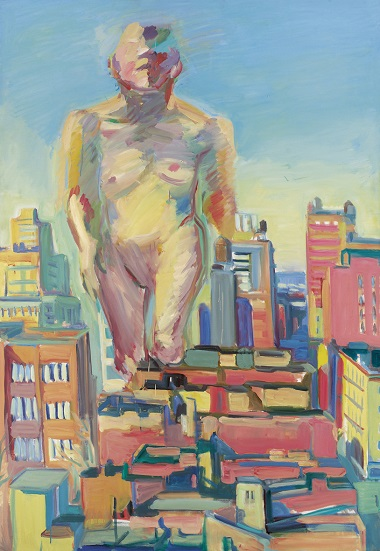 by Maria Lassnig - Woman Power - 1979