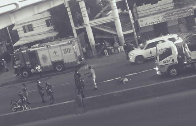 Peatón muere atropellado por vehículo desconocido en la autopista Duarte de Pedro Brand