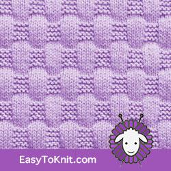 EasyToKnit - Basketweave #Knitting Stitch Pattern