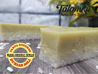 ketan talam durian, oleh-olehpekanbaru, makanan khas pekanbaru, Talam durian pekanbaru