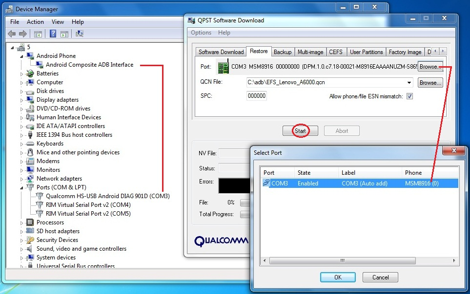 Fix Signal & No IMEI Lenovo A6000/A6000+…   Lenovo A6000/Plus