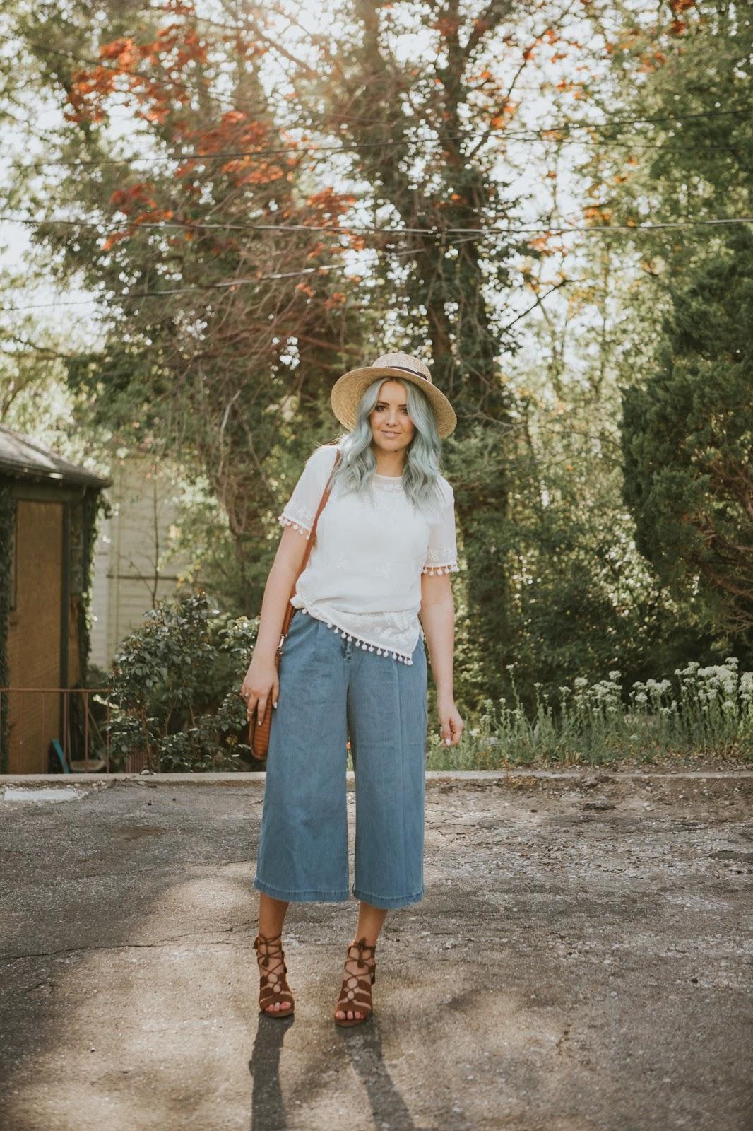 Pom Pom Shirt, Culotte, Long Tall Sally