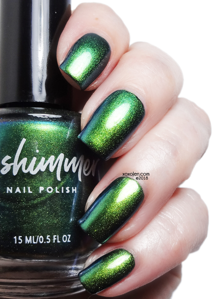 xoxoJen's swatch of kbshimmer Absinthe Minded