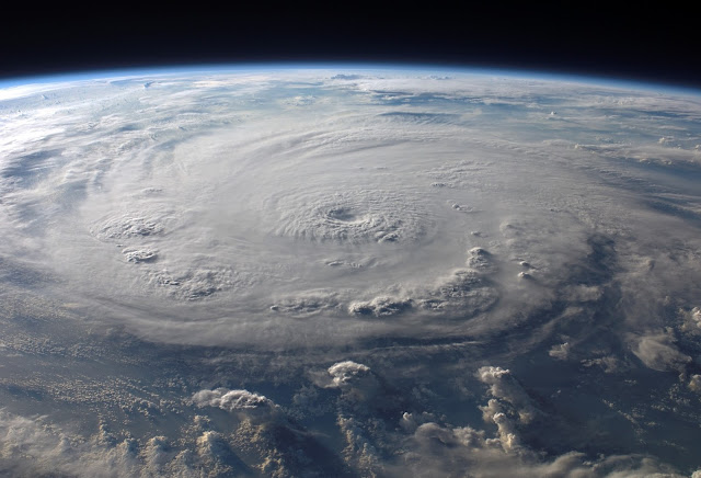 Satellite photo of a hurricane