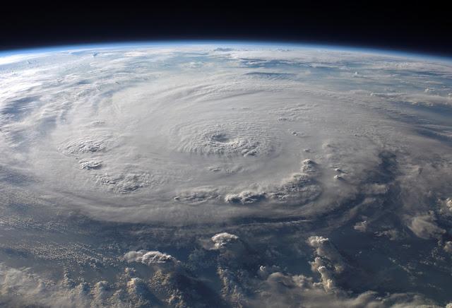 Satellite photo of a hurricane