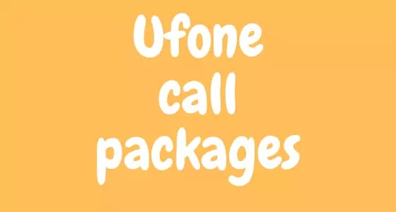 Ufone Call Packages – Daily,Weekly,Monthly,Hourly Newsonhy