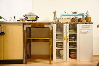 完成したDIYキッチン作業台
