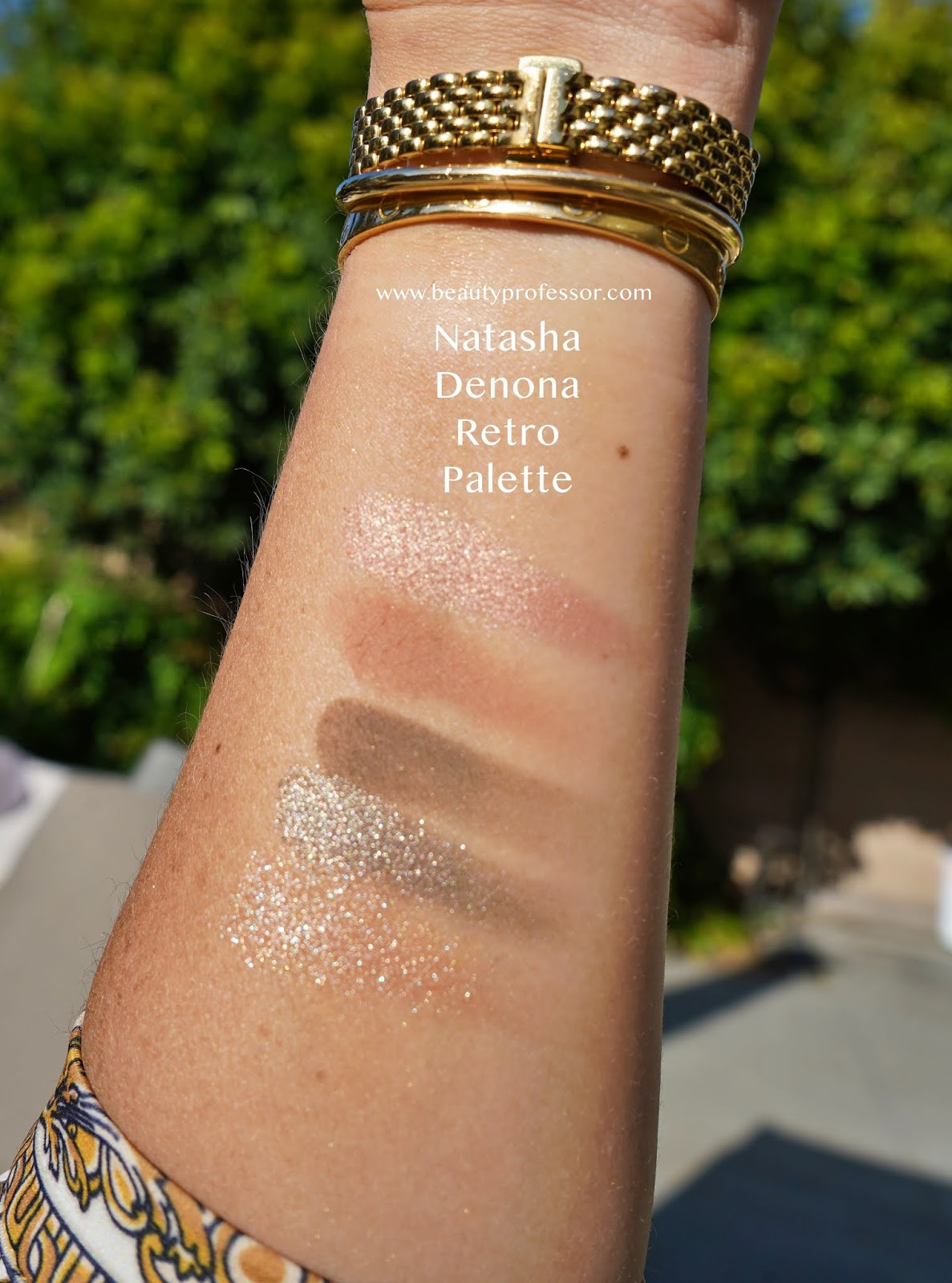 Natasha Denona Mini Retro Eyeshadow Palette swatches