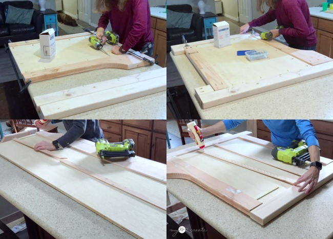 building sides and back of DIY Daybed