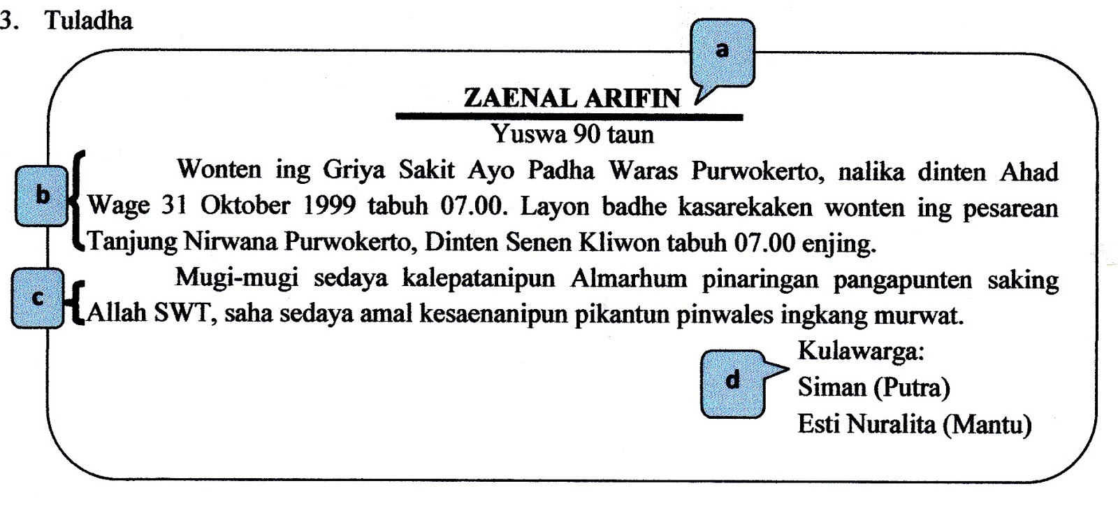 Tuladha Wacana Basa Jawa Wacana Bahasa Jawa Welcome To My Orec Orec Contoh Tuladha Wacana Bahasa Jawa Naskahkutk