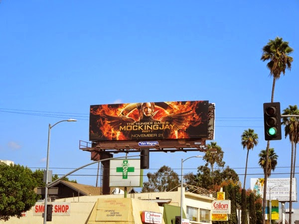 Hunger Games Mockingjay Part I billboard
