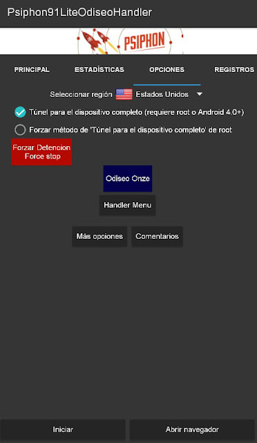 Psiphon 91 Lite Version Odiseo