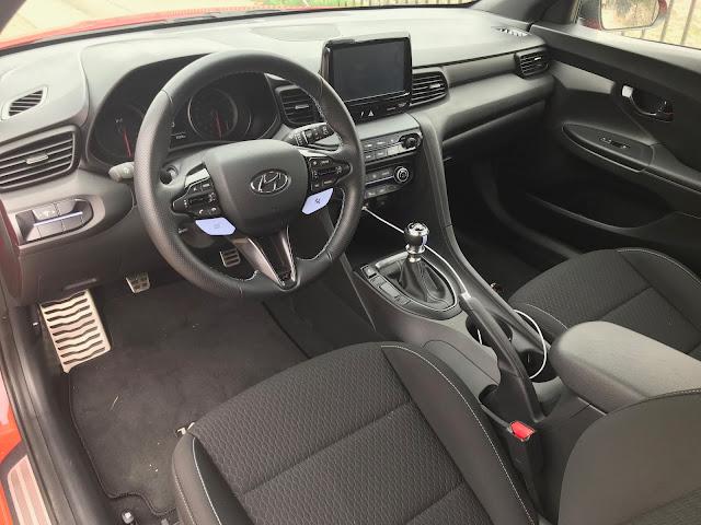 Interior view of 2020 Hyundai Veloster N
