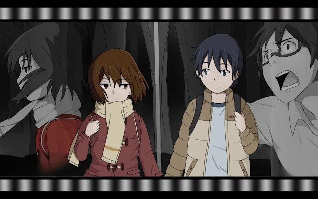 Tapeta z Boku dake ga Inai Machi: Hinazuki Kayo i Fujinuma Satoru