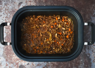 Slow Cooker Vegan Savoury Mince - Step 8 - Slow Cook Then Serve