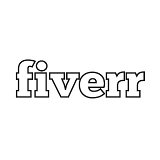 line drawing of fiverr.com logo vector line drawing