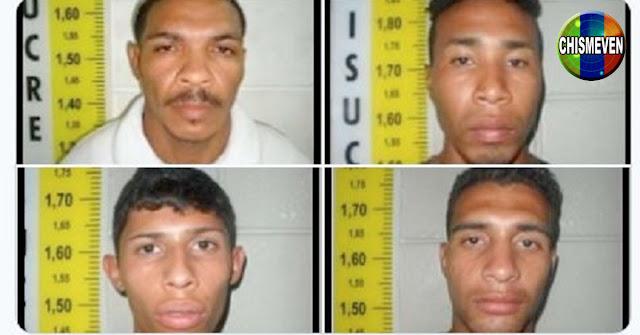 CUIDADO   4 peligrosos delincuentes huyeron de los calabozos de La Urbina