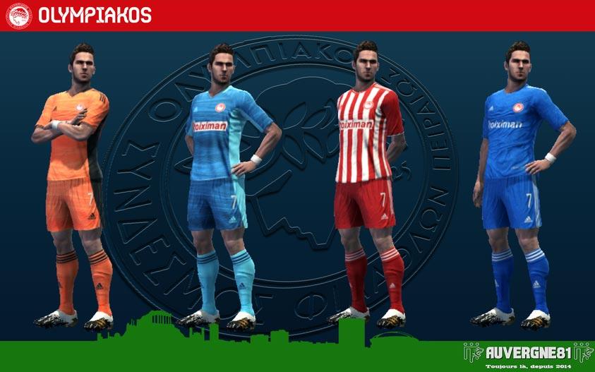 Kits Olympiakos 2021-2022 For PES 2013