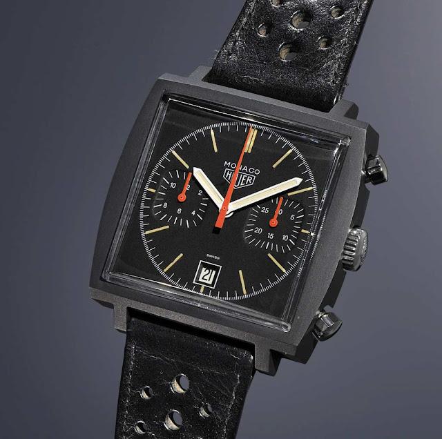 History of the TAG Heuer Monaco Heuer-Monaco-77470-Black-Phillips