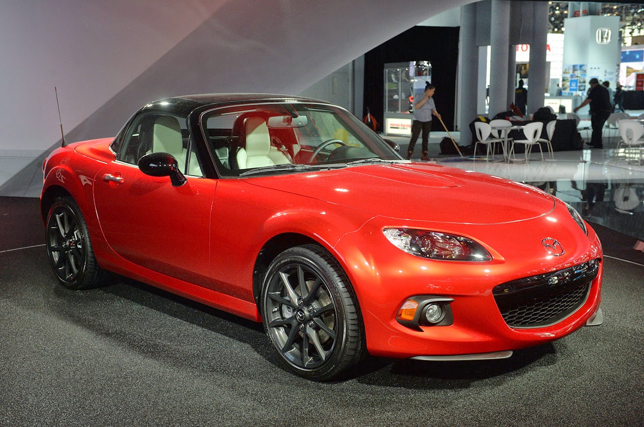 mazda mx 5 25th anniversary model year 2014 news cars new. Black Bedroom Furniture Sets. Home Design Ideas