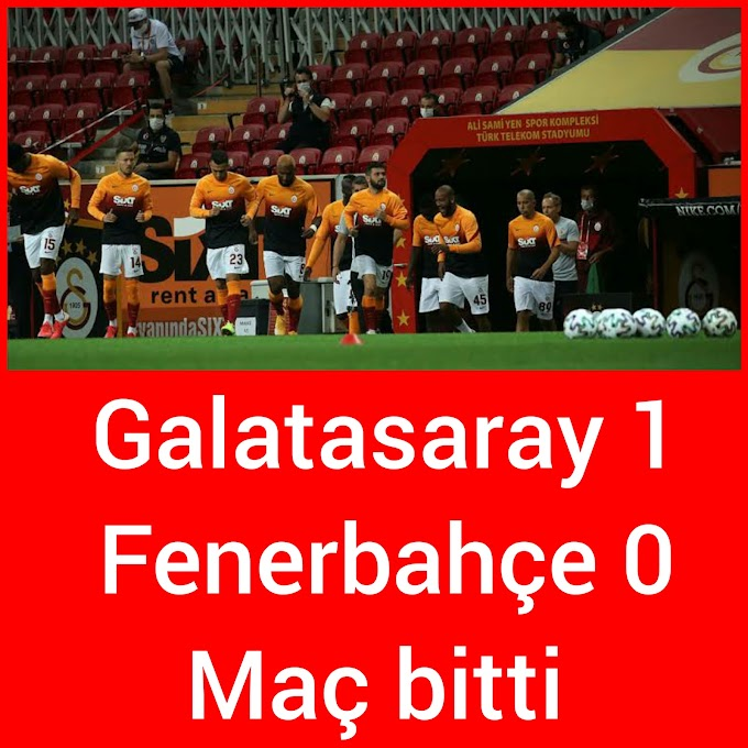 Galatasaray 1 Fenerbahçe o