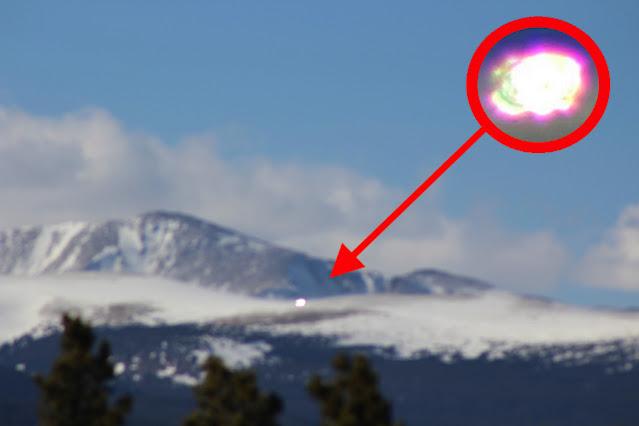 OVNI resplandeciente en las nubes sobre Colorado el 9 de abril de 2021