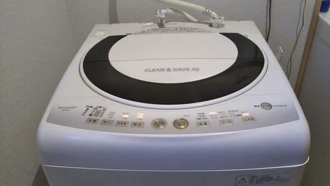 壊れたシャープの洗濯機