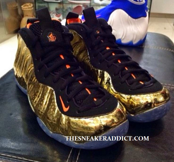 b456f289495 Here is New detailed images of the Nike Air Foamposite One Gold Safari  Sneaker