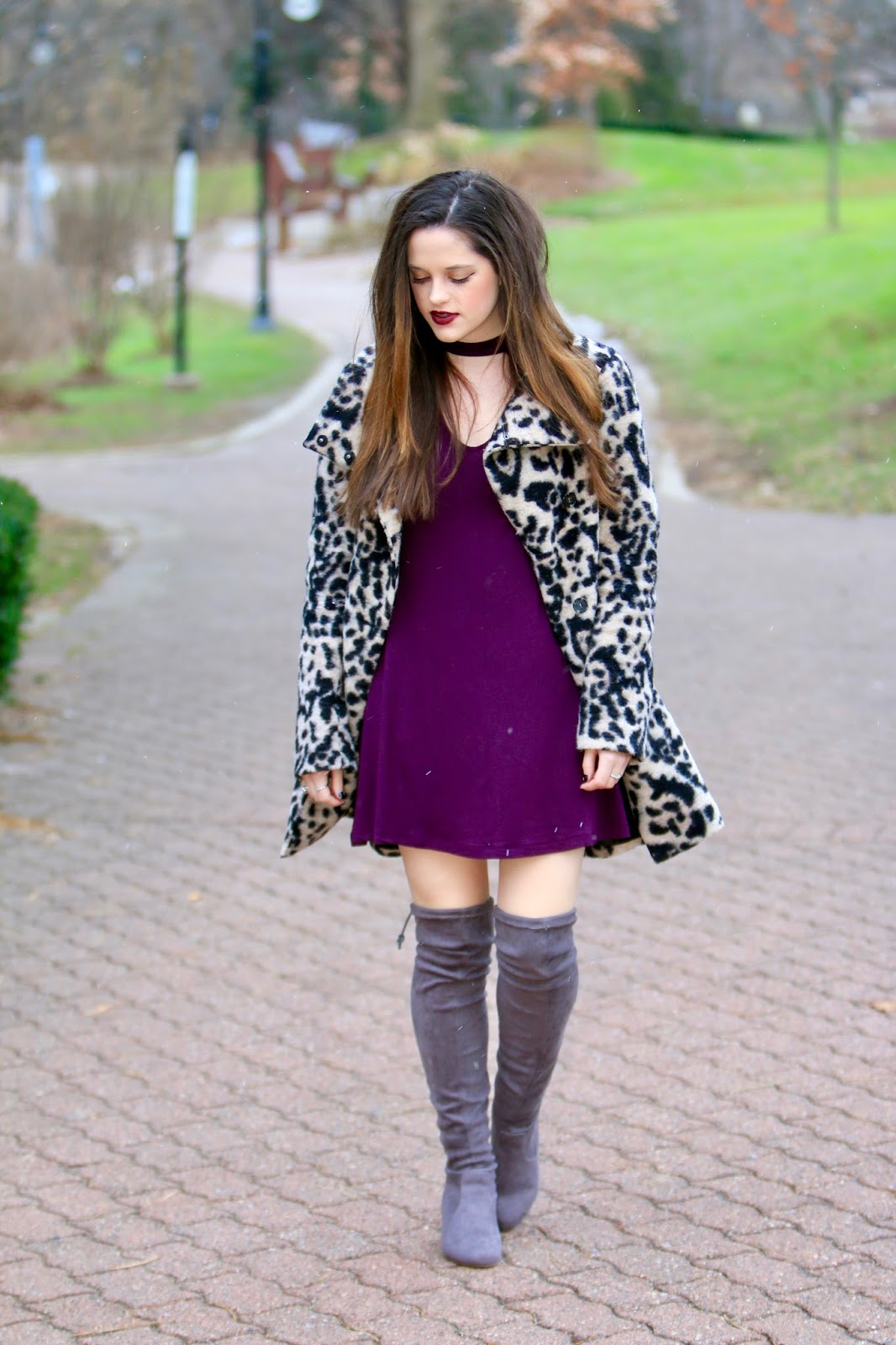leopard coat fashion blogger